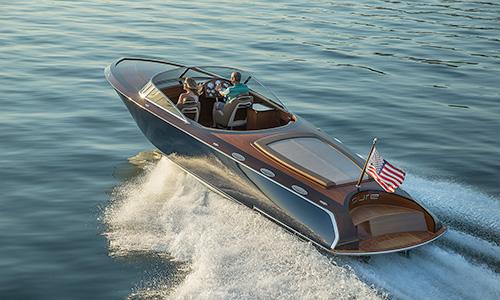 Pure 340 Custom Wood Boat by Coeur Customs